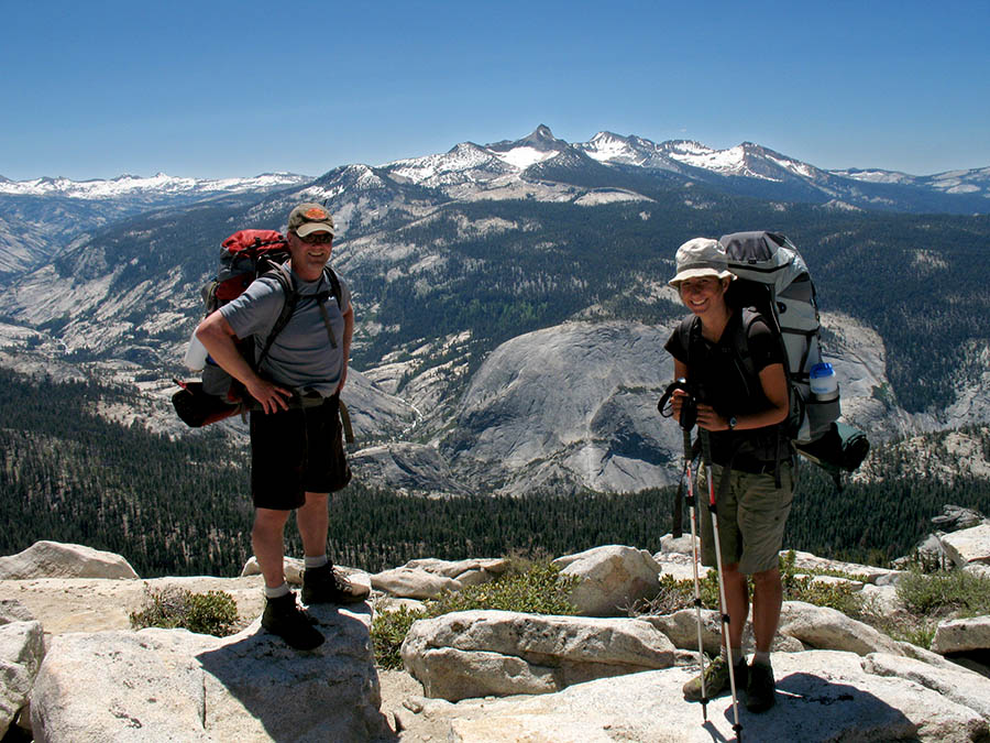 On the summit of Clouds Rest in Yosemite National Park