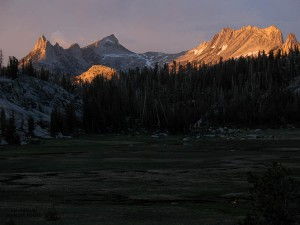 The view from our camp site at Sunrise