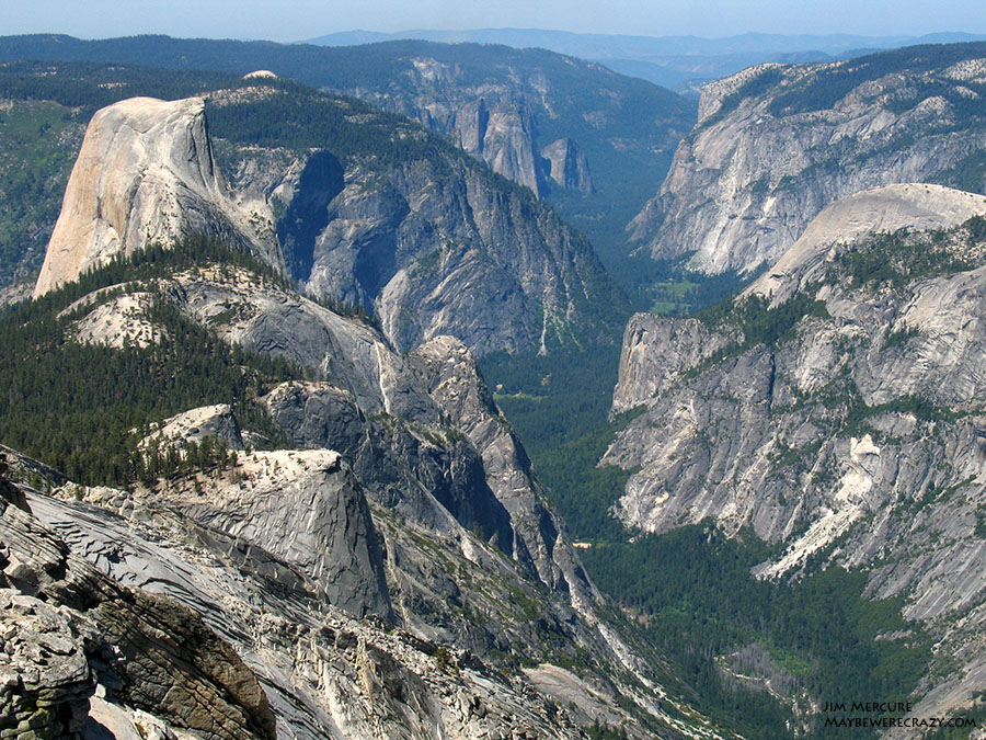 The view of Yosemite Valley from Clouds Rest