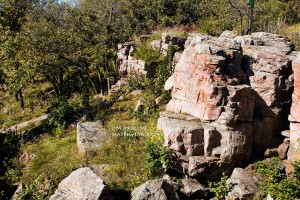 """The Oracle"" in Pipestone National Park"
